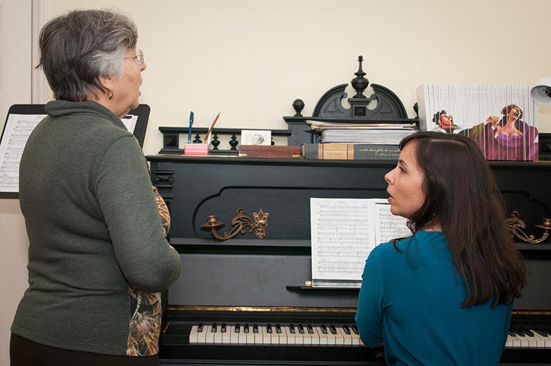 Voice lesson, Paula Rosado